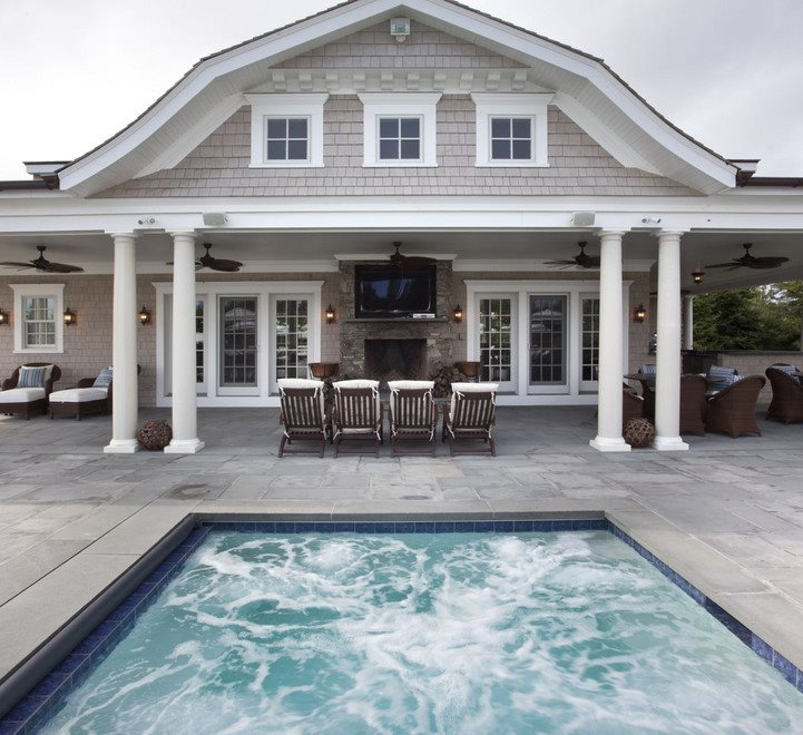 pool house and spa