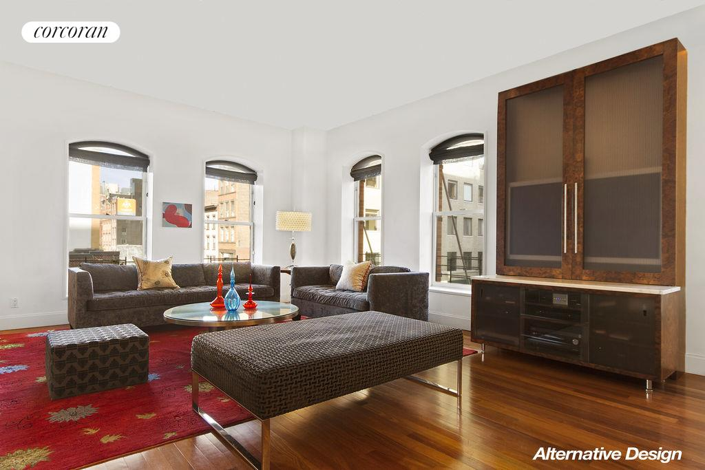416 WASHINGTON ST, 3G, Beautiful living room w/ windowed dining area