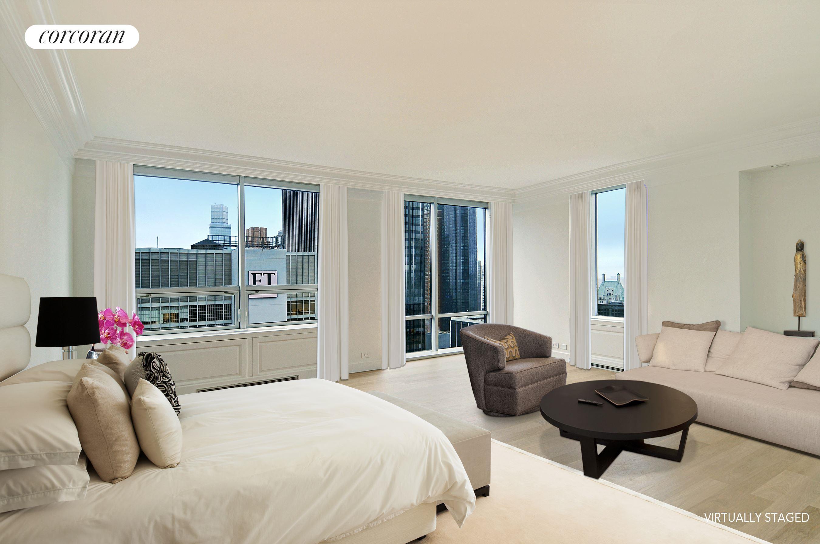 15 West 53rd Street, 45DE, Living Room