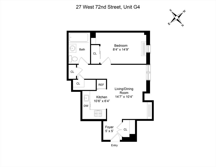 New York City Real Estate | View 27 West 72nd Street, #G4 | Floorplan