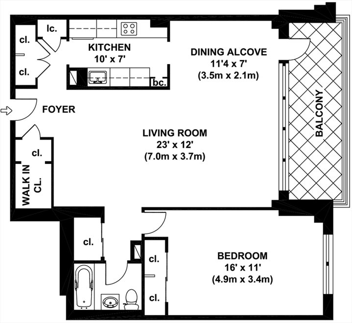 New York City Real Estate | View 444 East 84th Street, #8E | Floorplan