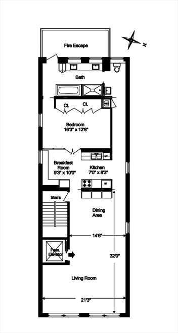 New York City Real Estate | View 97 WOOSTER ST, #5FL | Floorplan