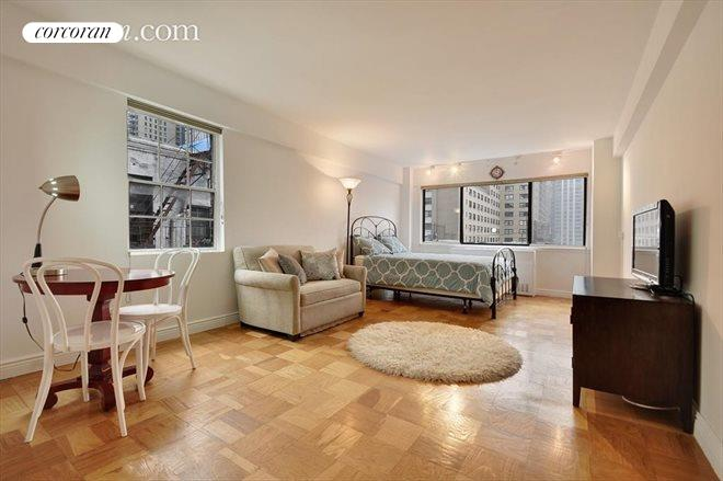 310 West 56th Street, 9-H, Living room with lots of light