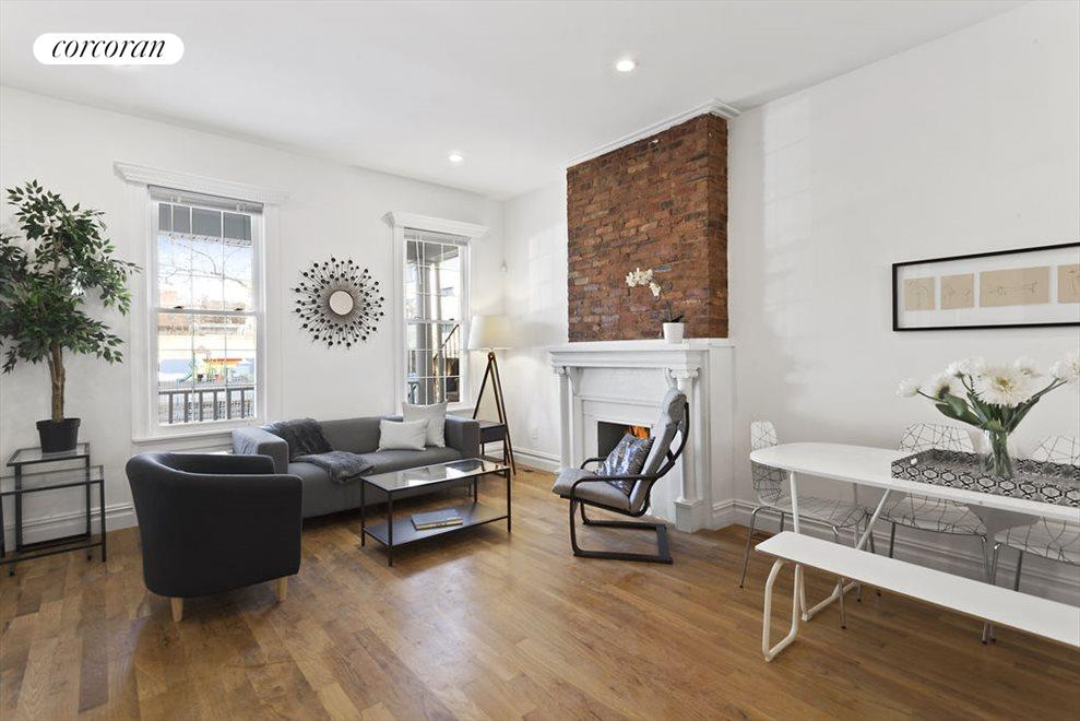 Living Room with original Mantel