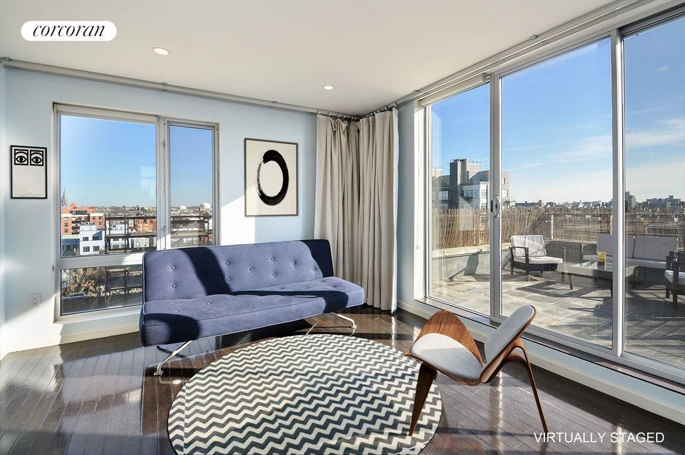 New York City Real Estate | View 524 Manhattan Avenue, #7 | Virtually staged 2nd Bedroom
