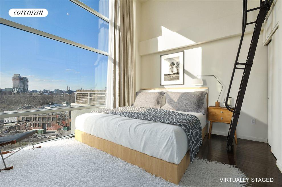 New York City Real Estate | View 524 Manhattan Avenue, #7 | Virtually staged master bedroom