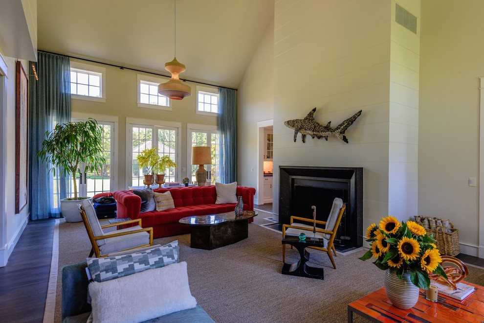 Living area has fireplace with Belgian marble surround