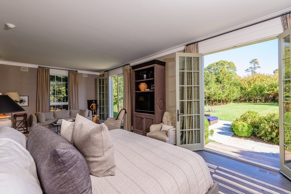 Master suite opens to the gorgeous grounds