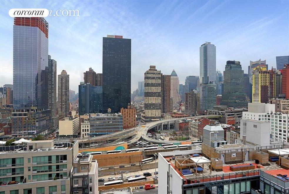Panoramic city skyline views