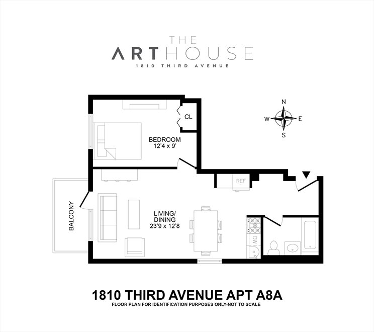 New York City Real Estate | View 1810 Third Avenue, #A8A | Floorplan