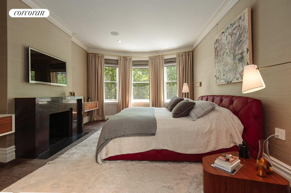 Master Bedroom with Wood Burning Fireplace