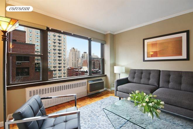 Corcoran 510 east 86th street apt 14b upper east side for Living room 86th street
