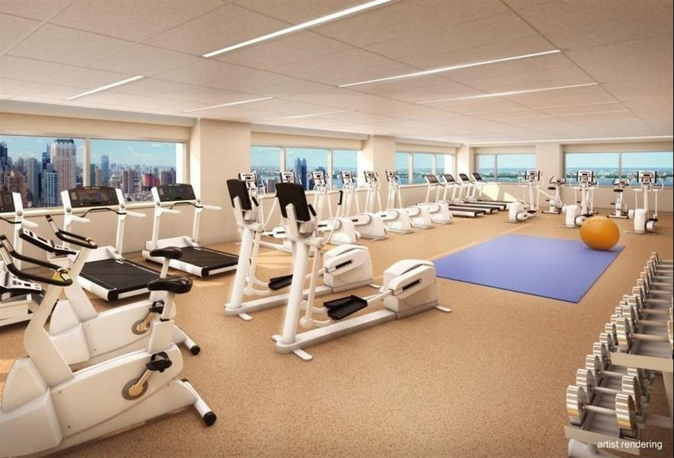 Fitness room with wrap around views