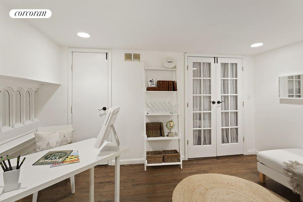 Former Choir Loft  is bedroom-sized with 2 closets