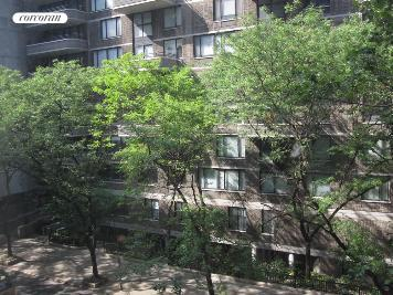 310 East 49th Street, 4D, Living Room Overlooks Tree Lined Street
