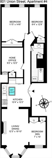 New York City Real Estate | View Union Street #4 | Floorplan 2