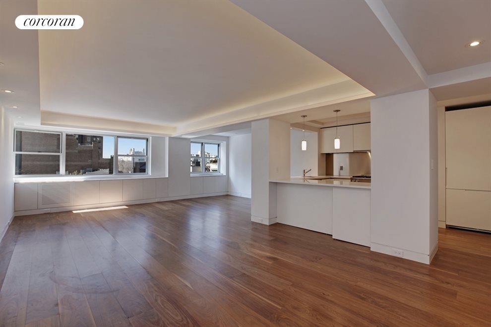 New York City Real Estate | View 40 East 78th Street, #9F | Living/Dining & Kitchen