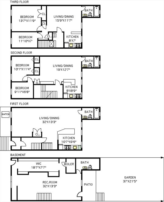 New York City Real Estate | View 303 South 4th Street | Floorplan