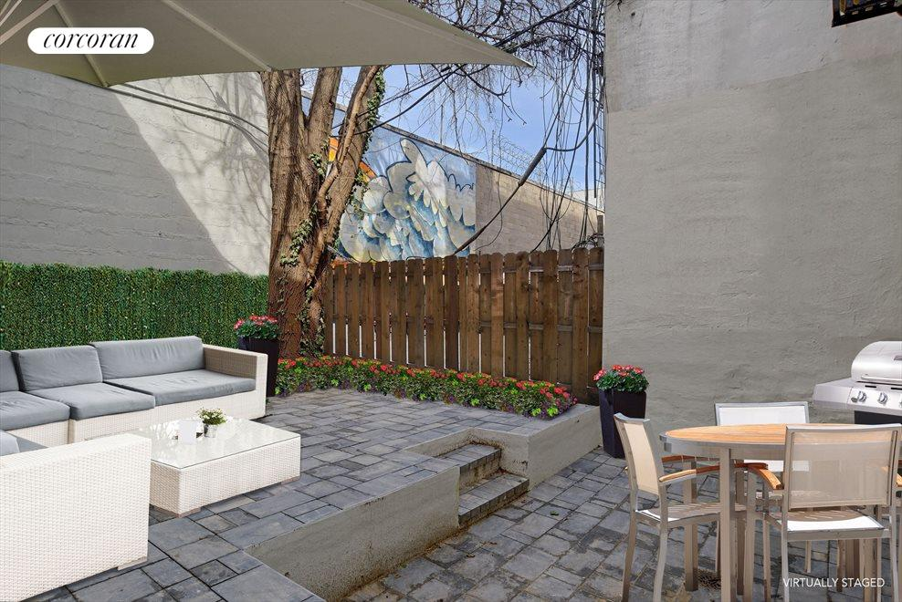 Virtually Staged Backyard