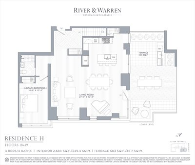New York City Real Estate | View 212 Warren Street, 18H | Floorplan 1