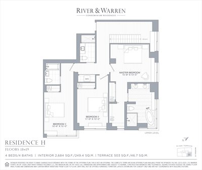 New York City Real Estate | View 212 Warren Street, 18H | Floorplan 2