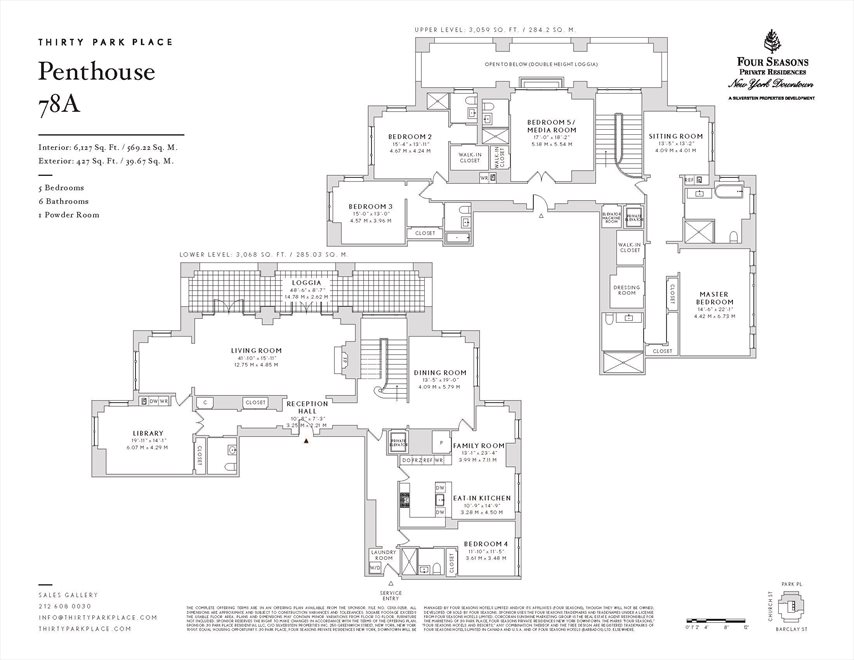 New York City Real Estate | View 30 PARK PLACE, #PH78A | Floorplan