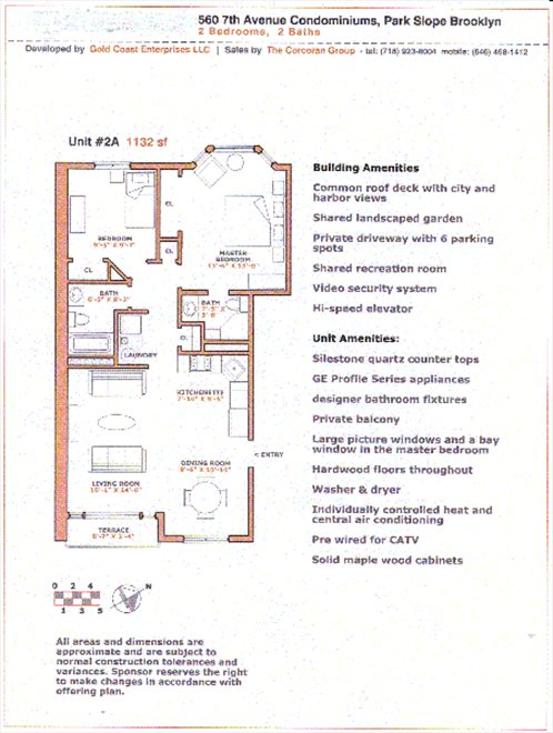 New York City Real Estate | View 560 7th Avenue, #3A | Floorplan 2