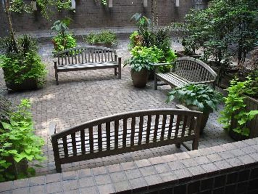 Entry Courtyard with Seating