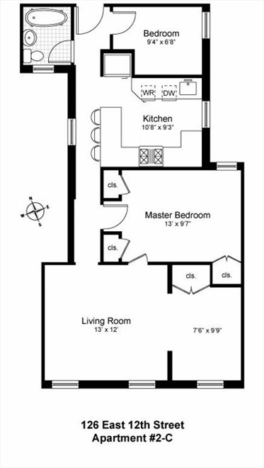 New York City Real Estate | View 126 East 12th Street, #2C | Floorplan