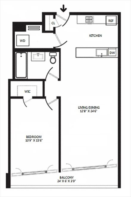 New York City Real Estate | View 125 North 10th Street, #S-3I | Floorplan