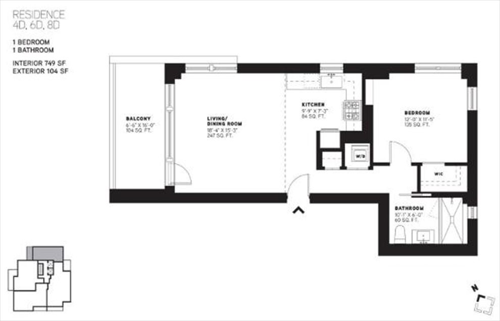 New York City Real Estate | View 144 North 8th Street, #8D | Floorplan