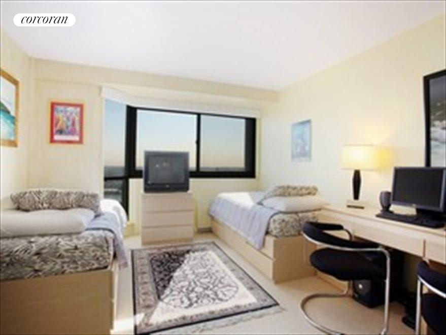 Spacious bedroom with full river view