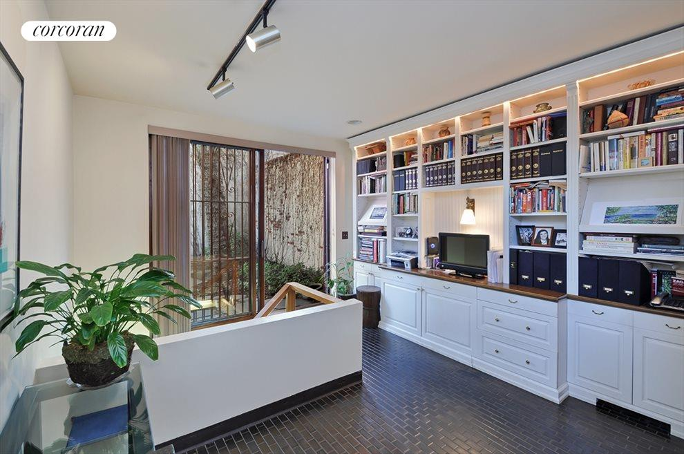 Entry foyer and office/library