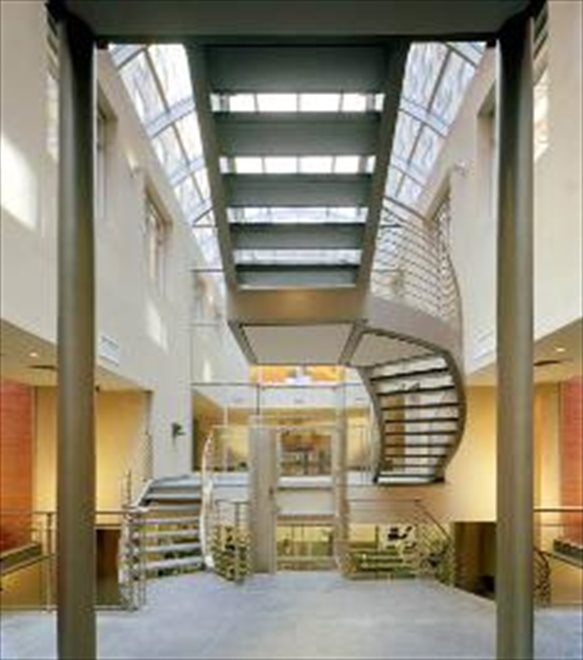 New York City Real Estate | View 555 West 23rd Street, #N8H | atrium leading to common courtyard