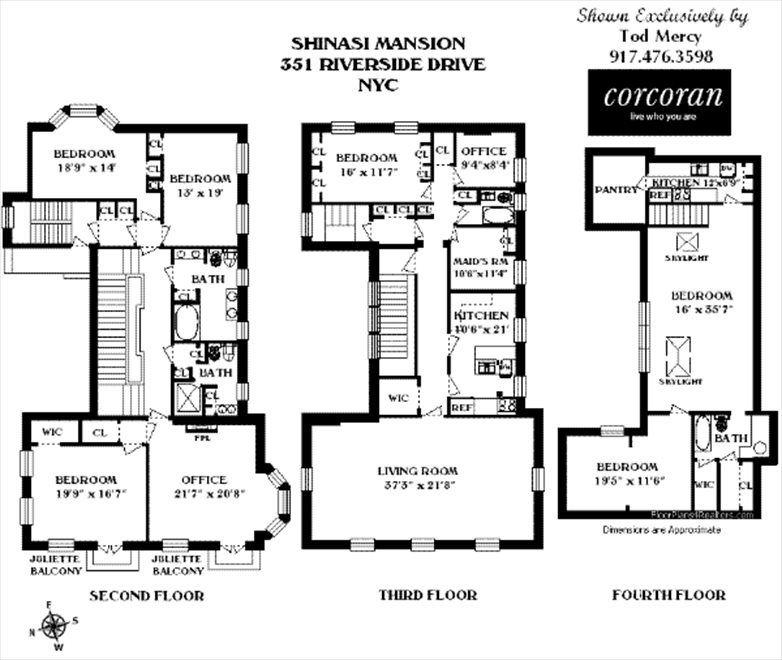 New York City Real Estate | View 351 Riverside Drive, #0 | Floorplan 2
