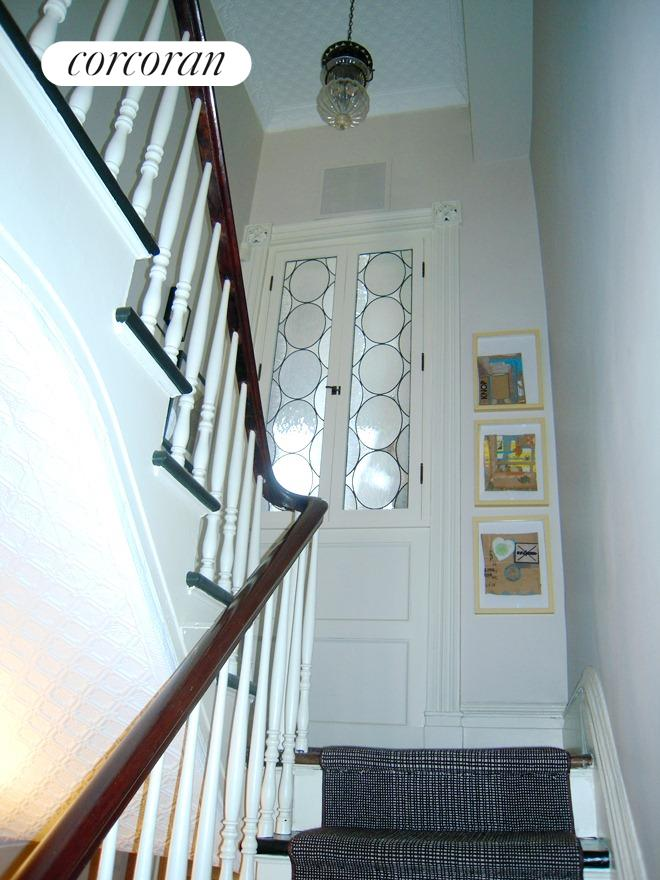 Staircase leading to the bedrooms.