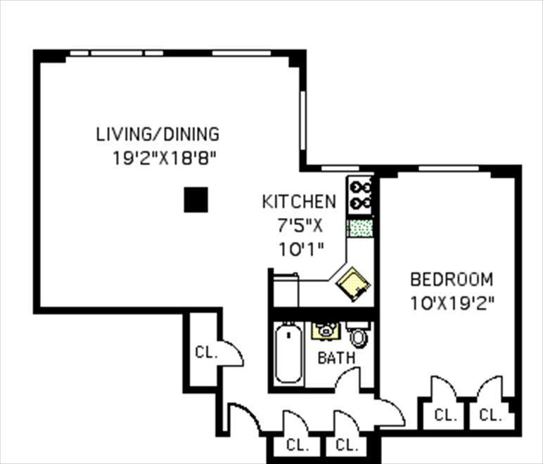 New York City Real Estate | View 361 Clinton Avenue, #3A | Floorplan