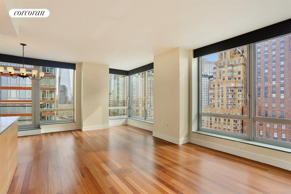 New York City Real Estate | View 30 West Street, #28B | 2 Beds, 2 Baths
