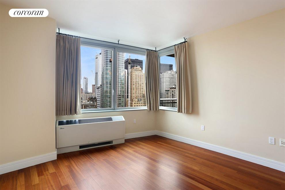 New York City Real Estate | View 30 West Street, #28B | Master Bedroom