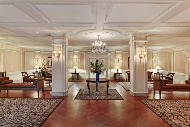 225 Central Park West, 1405, Majestic lobby recently refurbished.