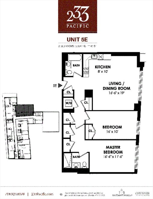 New York City Real Estate | View 233 Pacific Street, #5E | Floorplan