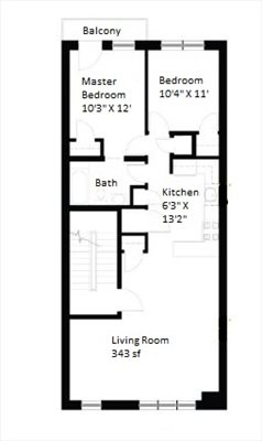 New York City Real Estate | View 55 Engert Avenue, #2 | Floorplan
