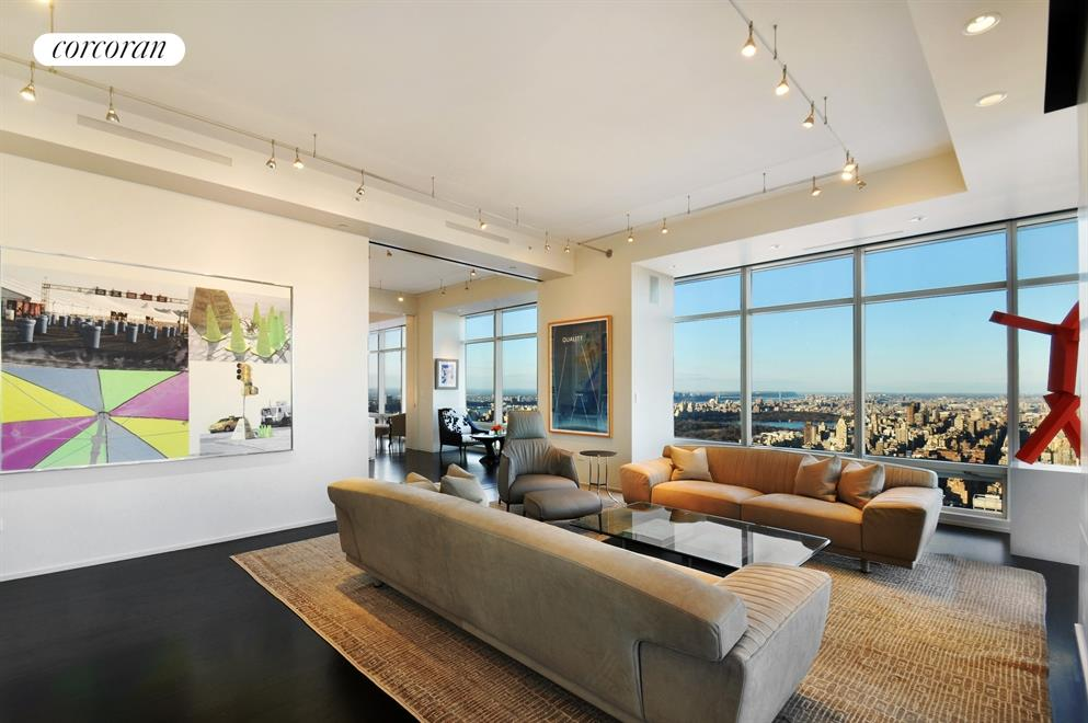 Oversized floor-to-ceiling windows throughout