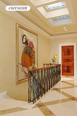 New York City Real Estate | View 785 Fifth Avenue, #PH17-18 | Striated Marble Floors in the Hallway