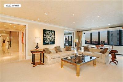 New York City Real Estate | View 785 Fifth Avenue, #PH17-18 | Media Room with Views of Central Park