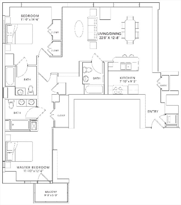 New York City Real Estate | View 250 East 49th Street, #16AB | Floorplan