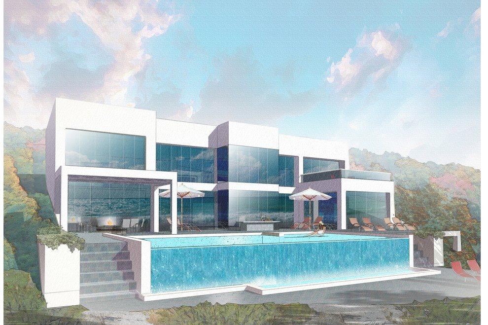 example of hillside multi-level home