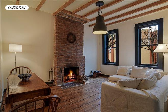 Living Room 86 St corcoran, 86 pioneer street, red hook real estate, brooklyn for