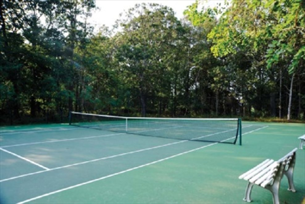 Community tennis courts are next door, with your own private access