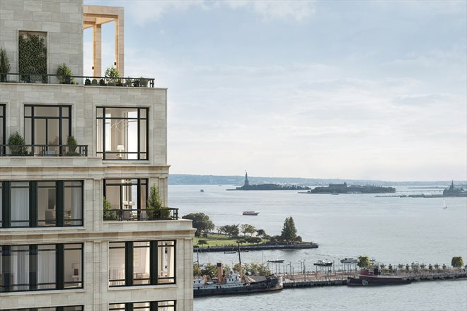 70 Vestry sits on the shore of the Hudson